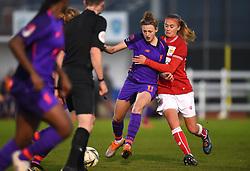 Julie Biesmans of Bristol City battles with Yana Daniels of Liverpool Women - Mandatory by-line: Paul Knight/JMP - 17/11/2018 - FOOTBALL - Stoke Gifford Stadium - Bristol, England - Bristol City Women v Liverpool Women - FA Women's Super League 1