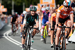 Leah Thomas (USA) crosses the line at Boels Ladies Tour 2019 - Stage 5, a 154.8 km road race from Nijmegen to Arnhem, Netherlands on September 8, 2019. Photo by Sean Robinson/velofocus.com