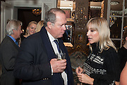 AURELIA BONITO; BARON MARC BURCA; , Eva Harold birthday party. Ballroom, Beach Blanket Babylon. Notting Hill, London. 19 November 2012.