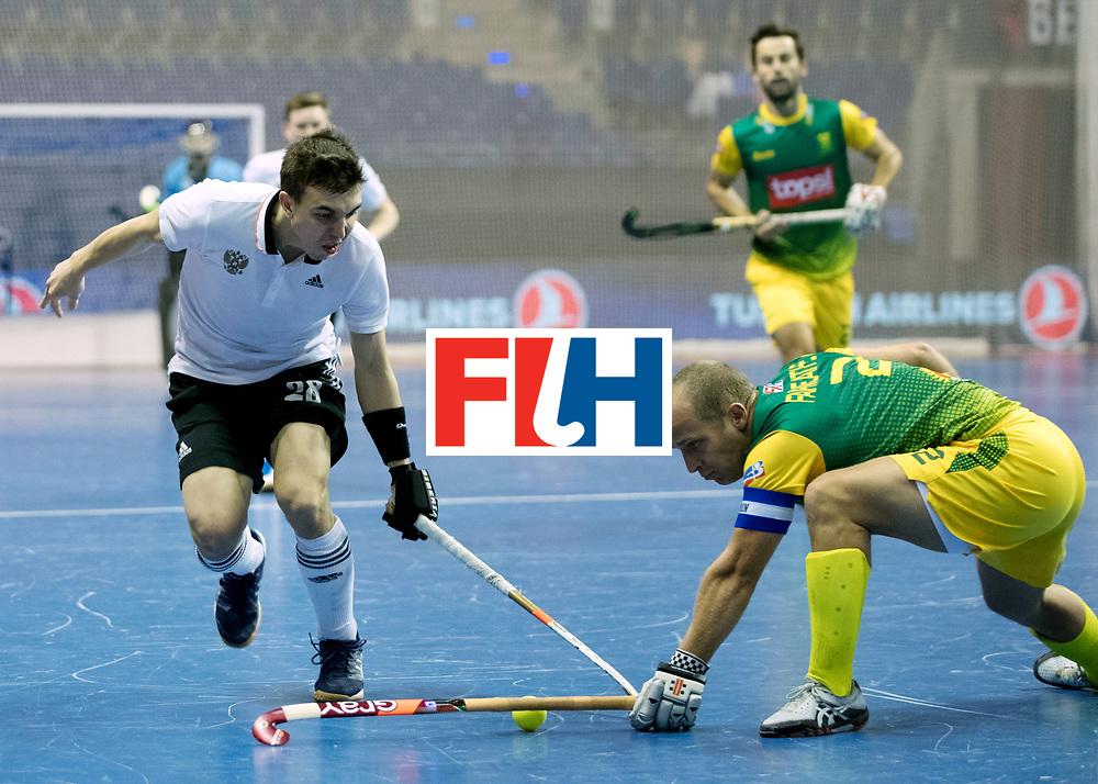 BERLIN - Indoor Hockey World Cup<br /> Men: Russia - South Africa<br /> foto: ZAMALUTDINOV Ilfat.<br /> COPYRIGHT WILLEM VERNES