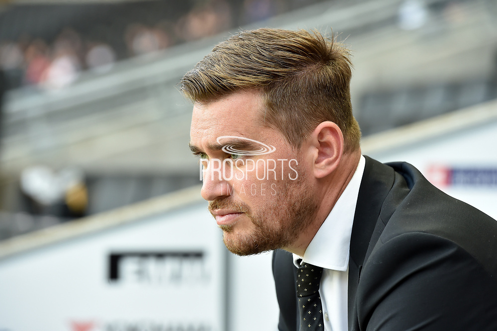 Grimsby Town manager Michael Jolley during the EFL Sky Bet League 2 match between Milton Keynes Dons and Grimsby Town FC at stadium:mk, Milton Keynes, England on 21 August 2018.