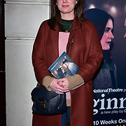 London, England, UK. 23 January 2018. Jill Halfpenny Arrivers at Beginning - press night at Ambassadors Theatre.
