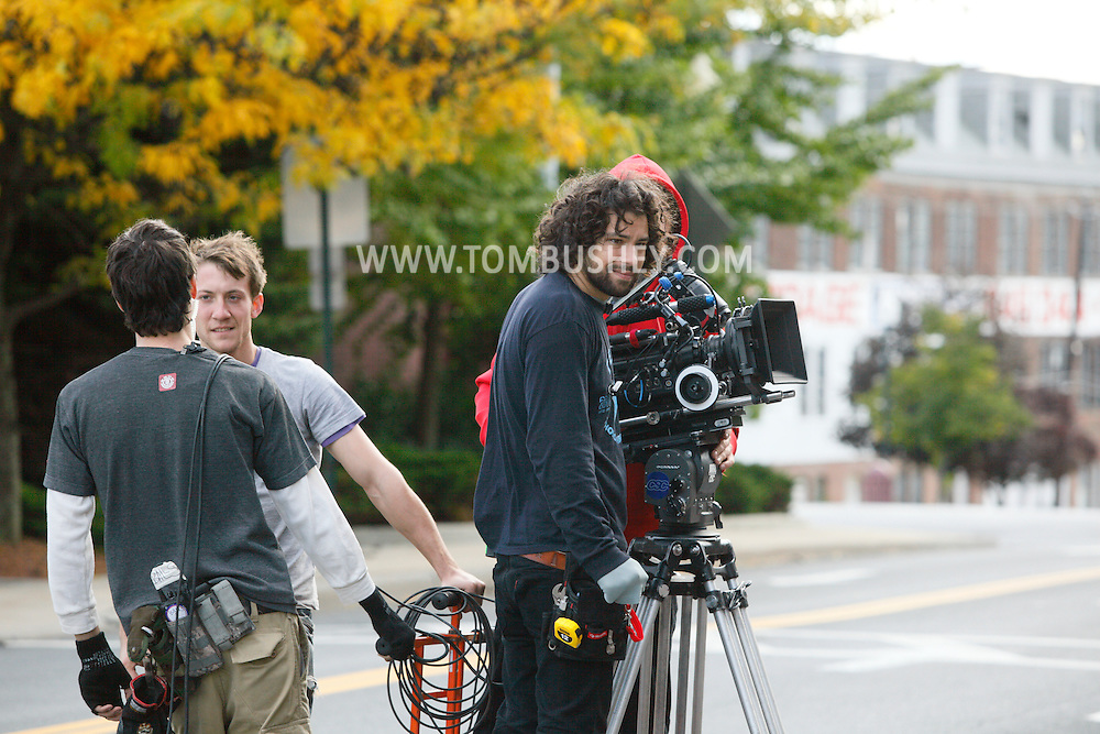"Middletown, NY - The feature movie ""Collar"" films outside a police station and courthouse on  Saturday, Oct. 10, 2009."