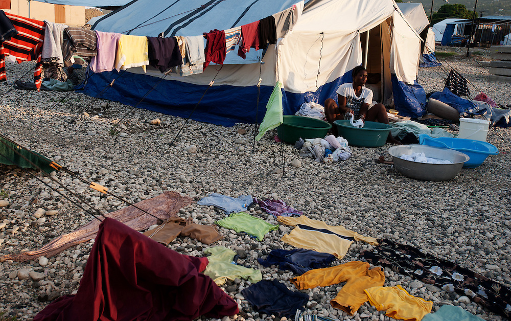Life in a tent city in Tabare Issa,  Port au Prince.