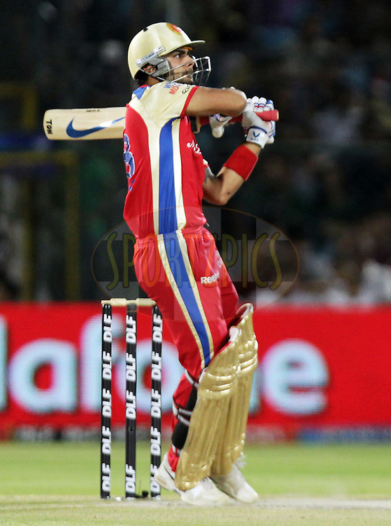 Royal Challengers Bangalore player Virat Kohli bats during match 55 of the Indian Premier League ( IPL ) Season 4 between the Rajasthan Royals and the Royal Challengers Bangalore held at the Sawai Mansingh Stadium, Jaipur, Rajasthan, India on the 11th May 2011..Photo by BCCI/SPORTZPICS.