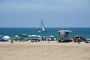 Summer Time on the Beach in Huntington Beach California