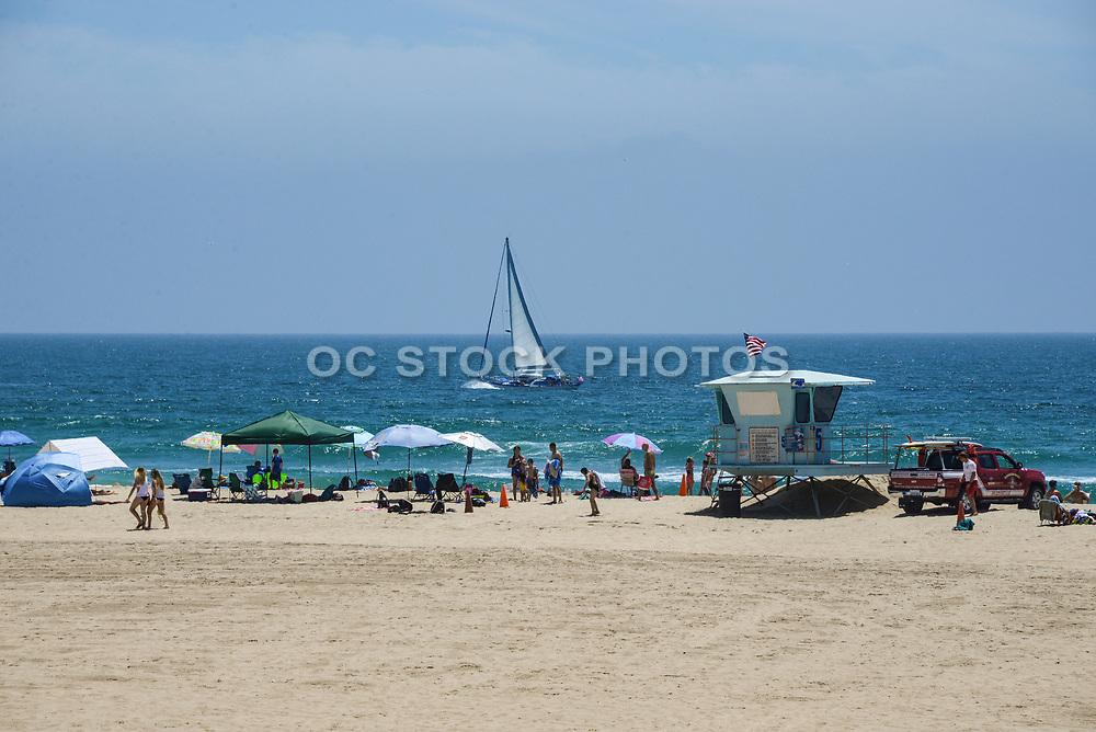 Summer Time on the Beach in Huntington Beach California