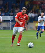 Coventry City Striker, Adam Armstrong on the ball keyng up a shot during the Sky Bet League 1 match between Bury and Coventry City at Gigg Lane, Bury, England on 26 September 2015. Photo by Mark Pollitt.