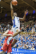 13 February  2009: Duke junior guard #2 Nolan Smith goes to the hoop..Duke beats Maryland 77-56 for 1st place in the ACC at Cameron Indoor stadium, Durham NC.Mandatory Credit: Mark Abbott / Southcreek Global