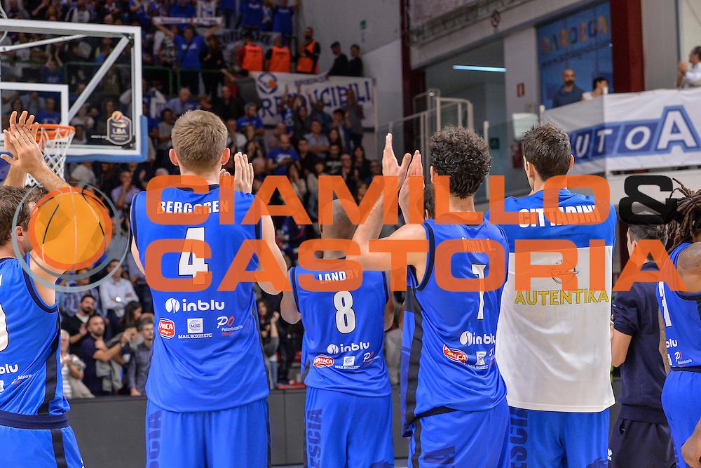 Team Germani Basket Brescia Leonessa<br /> Dinamo Banco di Sardegna Sassari - Germani Basket Brescia Leonessa<br /> Lega Basket Seire A 2016/2017<br /> Sassari 15/10/2016<br /> Foto Ciamillo-Castoria