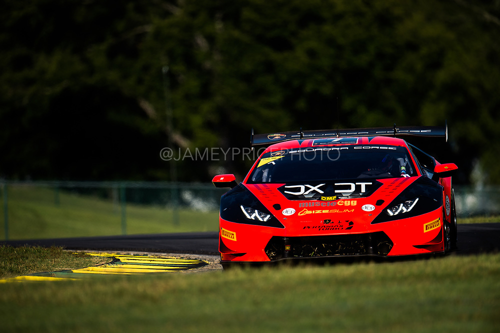 August 25-27, 2017: Lamborghini Super Trofeo at Virginia International Raceway. Austin Versteeg, DXDT Racing, Lamborghini Dallas, Lamborghini Huracan LP620-2