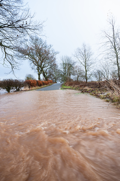 Flooding on the River South Esk, 23rd December 2012