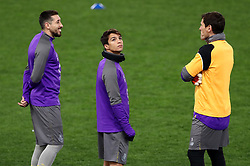 February 11, 2019 - Rome, Italy - FC Porto press conference and training - Champions League.Hector Herrera, Oscar Torres and Iker Casillas on the pitch of Porto at Olimpico Stadium in Rome, Italy on February 11, 2019. (Credit Image: © Matteo Ciambelli/NurPhoto via ZUMA Press)