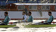 PUTNEY, LONDON, ENGLAND, 05.03.2006, Cambridge, CUBC; [right to left] Sebastian Schulte; No.6 Kieran West; No.7 Tom James;  Pre 2006 Boat Race Fixtures,.   © Peter Spurrier/Intersport-images.com..CUBC, Bow Luke Walton, No. 2 Tom Edwards, No.3 Sebastian Thormann, No 4. Thorsten Englemann, No.5 Sebastian Schulte, No.6 Kieran West, No.7 Tom James, stroke Kip McDaniel and cox Peter Rudge...OUBC, Bow Robin Esjmond-Frey, No.2 Colin Smith, No.3 Jake Wetzel, No.4 Paul Daniels, No.5 James Schroeder. No.6 Barney Williams, No. 7 Tom Parker, stroke Bastien Ripoll, and cox Nick Brodie,..[Mandatory Credit Peter Spurrier/ Intersport Images] Varsity Boat Race, Rowing Course: River Thames, Championship course, Putney to Mortlake 4.25 Miles