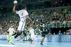 Mounkoud #11 of PSG during handball match between PPD Zagreb (CRO) and Paris Saint-Germain (FRA) in 11th Round of Group Phase of EHF Champions League 2015/16, on February 10, 2016 in Arena Zagreb, Zagreb, Croatia. Photo by Urban Urbanc / Sportida