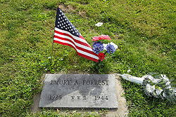 31 August 2017:   Veterans graves in Dawson Cemetery in eastern McLean County.<br /> <br /> Emory A Forrest  1925  WWII  1944