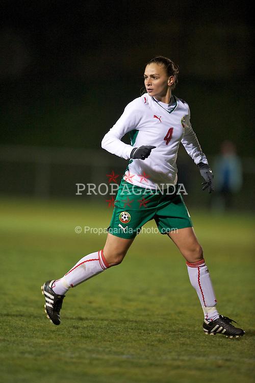 WREXHAM, WALES - Wednesday, November 24, 2010: Bulgaria's Stanislava Tsekova (FC NSA) in action against Wales during the International Friendly match at the Rock. (Photo by David Rawcliffe/Propaganda)