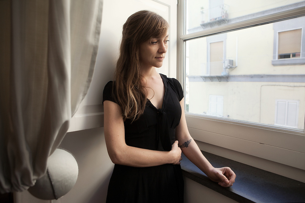 "Naples, Italy, June 10, 2016. Catherine Lacey, American writer. Catherine was named by Granta magazine one of the best new voices in 2014. Her first novel, ""Nobody Is Ever Missing"" has been named among the best books of the year by The New Yorker, the Huffington Post, Vanity Fair and Time Out."