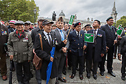 War veterans during the Football Lads Alliance march between Park Lane and Westminster Bridge, London on 7 October 2017. Photo by Phil Duncan.