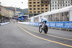 Anne-Sophie Harsch at UCI Road World Championships Junior Women's Individual Time Trial 2017 a 16.1 km time trial in Bergen, Norway on September 18, 2017. (Photo by Sean Robinson/Velofocus)