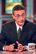John Podesta, White House deputy chief of staff discusses the ongoing scandal involving President Clinton during NBC's Meet the Press September 20, 1998 in Washington, DC.