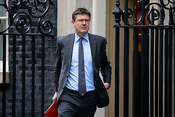 © Licensed to London News Pictures. 29/01/2019. London, UK. Secretary of State for Business, Energy and Industrial Strategy Greg Clarke leaves 10 Downing Street after attending a Cabinet meeting this morning. Photo credit : Tom Nicholson/LNP