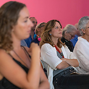 APRIL 20, 2018--MIAMI, FLORIDA<br /> Attendees to the Andre' Lepecki lecture: In The Event of Encounter (or, The Improbable Living Together)  Miami Dade College's Freedom Tower in downtown Miami as part of the Living Together Series.<br /> (PHOTO BY ANGELVALENTIN/FREELANCE)