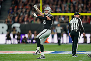 Maxx Crosby (DE) of the Oakland Raiders celebrates his sack during the International Series match between Oakland Raiders and Chicago Bears at Tottenham Hotspur Stadium, London, United Kingdom on 6 October 2019.