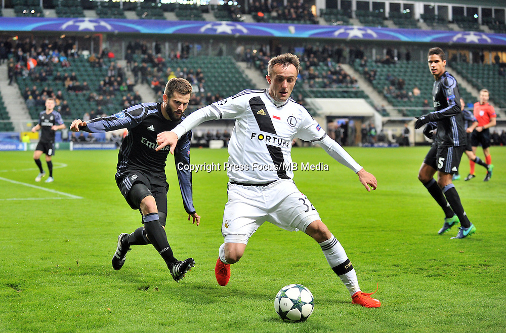 2016.11.02 Warszawa<br /> Pilka nozna Liga Mistrzow sezon 2016/2017<br /> Legia Warszawa - Real Madryt<br /> N/z Nacho Miroslav Radovic<br /> Foto Lukasz Laskowski / PressFocus<br /> <br /> 2016.11.02 Warsaw<br /> Football Champions League season 2016/2017<br /> Legia Warsaw - Real Madrid<br /> Nacho Miroslav Radovic<br /> Credit: Lukasz Laskowski / PressFocus