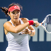 August 22, 2016, New Haven, Connecticut: <br /> Louisa Chirico of the United States in action during a match a match on Day 4 of the 2016 Connecticut Open at the Yale University Tennis Center on Monday August  22, 2016 in New Haven, Connecticut. <br /> (Photo by Billie Weiss/Connecticut Open)