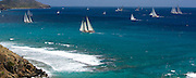 Juno sailing the Old Road Race at the Antigua Classic Yacht Regatta.