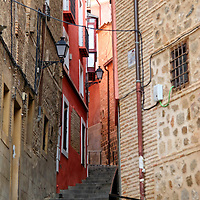 Europe, Spain, Toledo. Architecture of Toledo, steps.