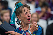 West Ham FC supporters during the Premier League match between West Ham United and Manchester United at the London Stadium, London, England on 22 September 2019.
