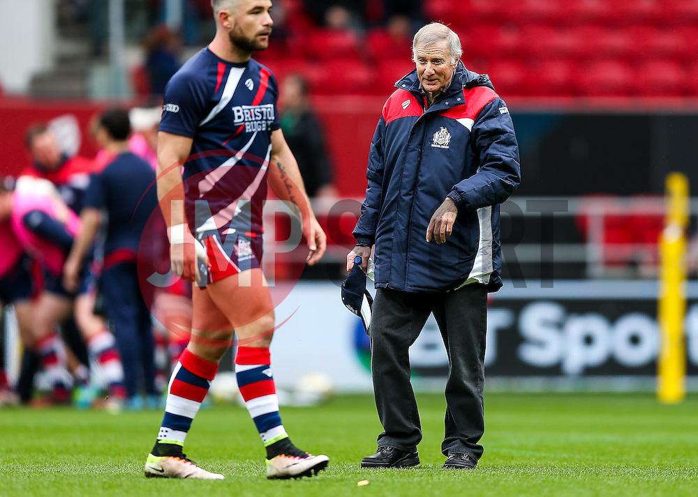 New Bristol Rugby assistant coach Alan Solomons looks on - Rogan Thomson/JMP - 26/02/2017 - RUGBY UNION - Ashton Gate Stadium - Bristol, England - Bristol Rugby v Bath - Aviva Premiership.