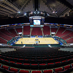 March 6, 2016:  Key Arena set up for the PAC-12 Women's Tournament Final in Seattle, Washington. (Photo by Christopher Mast/Icon Sportswire)