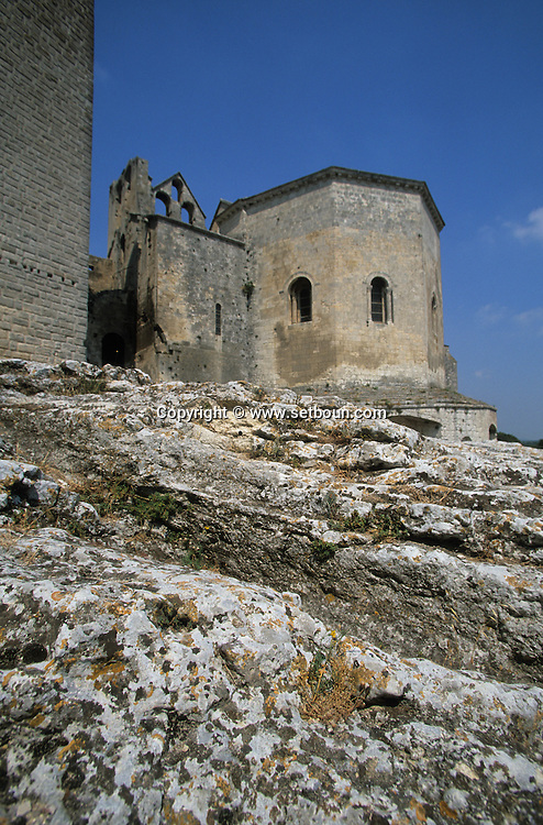 France. Bouches du Rhone.Arles montmajour abay; church    France / Arles abbaye de Montmajour    France