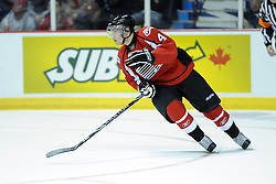 Taylor Hall of the Windsor Spitfires in Game 4 of the CHL's SUBWAY Super Series in Windsor, ON on Monday. Photo by Aaron Bell/OHL Images.