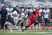 Community College of San Francisco wide receiver Easop Winston Jr. (11) carries the ball down the field against College of Siskiyous at Community College of San Francisco in San Francisco, Calif., on September 10, 2016. (Stan Olszewski/Special to S.F. Examiner)