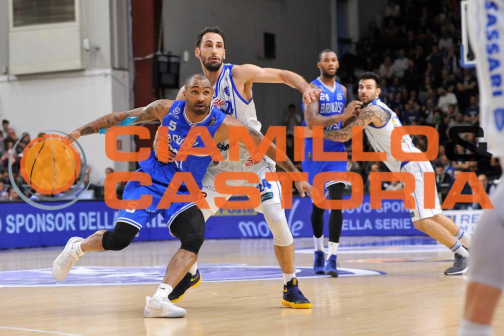 Phil Goss - Rok Stipcevic<br /> Banco di Sardegna Dinamo Sassari - Enel New Basket Brindisi<br /> LegaBasket Serie A LBA Poste Mobile 2016/2017<br /> Sassari 02/04/2017<br /> Foto Ciamillo-Castoria