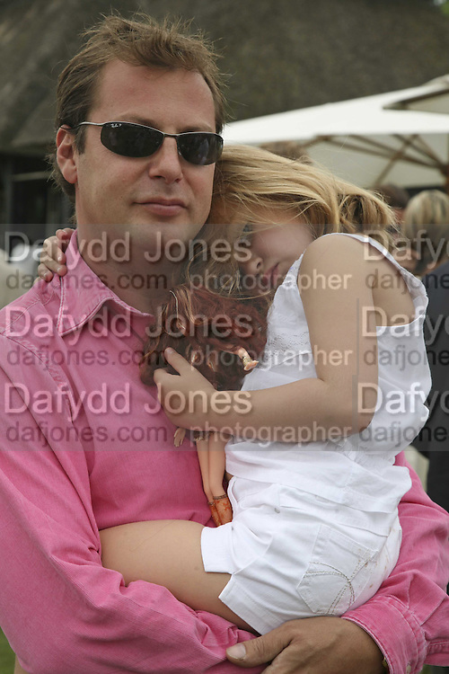 MATTHEW FREUD AND HIS DAUGHTER CHARLOTTE, Guy Leymarie and Tara Getty host The De Beers Cricket Match. The Lashings Team versus the Old English team. Wormsley. ONE TIME USE ONLY - DO NOT ARCHIVE  © Copyright Photograph by Dafydd Jones 66 Stockwell Park Rd. London SW9 0DA Tel 020 7733 0108 www.dafjones.com