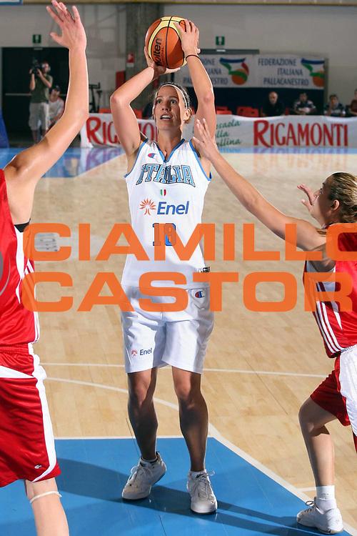 DESCRIZIONE : Bormio Torneo Preparazione Europei Nazionale Femminile 2007 Italia Turchia<br />GIOCATORE : Jenifer Nadalin<br />SQUADRA : Nazionale Italia Donne<br />EVENTO : Bormio Torneo Preparazione Europei Nazionale Femminile 2007<br />GARA : Italia Turchia<br />DATA : 13/08/2007<br />CATEGORIA : Tiro<br />SPORT : Pallacanestro<br />AUTORE : Agenzia Ciamillo-Castoria/G.Ciamillo