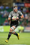 Kieran Read of the BNZ Crusaders breaks the lines during the Canterbury Crusaders v the Western Force Super Rugby Match. Nib Stadium, Perth, Western Australia, 8th April 2016. Copyright Image: Daniel Carson / www.photosport.nz