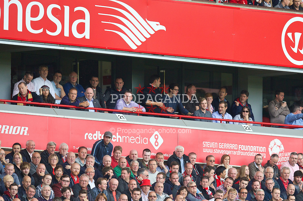 LIVERPOOL, ENGLAND - Saturday, September 27, 2014: The Red Touch Media executive box during the Premier League match at Anfield. (Pic by David Rawcliffe/Propaganda)