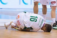 Unicaja Nemanja Nedovic injured during Liga Endesa match between Real Madrid and Unicaja Malaga at Coliseum Burgos in Burgos , Spain. January 27, 2018. (ALTERPHOTOS/Borja B.Hojas)
