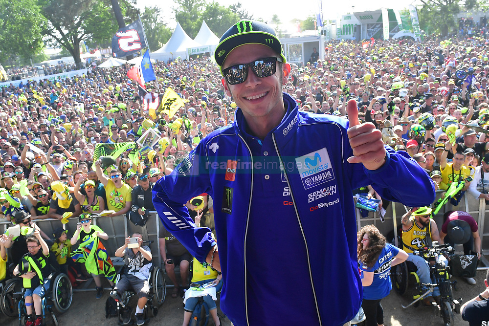 May 18, 2018 - Le Mans, Sarthe, France - 46 VALENTINO ROSSI (ITA) MOVISTAR YAMAHA MOTOGP (JPN) YAMAHA YZR M1 (Credit Image: © Panoramic via ZUMA Press)