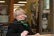 Pam Benoit, Executive Vice President & Provost, speaks at the  OhioWomen Open House, outside of the Women's Center in Baker Center, on Thursday, November 19, 2015. Photo by Kaitlin Owens