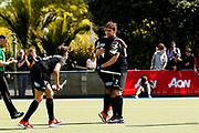 Cory Bennett of the Black Sticks scores their 2nd Goal at the final game of the Black Sticks v Canada Test Matches 21 October 2018. Copyright photo: Alisha Lovrich / www.photosport.nz