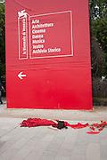 Outside the Giardini,  Venice. Venice Bienalle. 31 May 2013