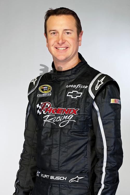 Spartanburg, SC - January 17, 2012:  NASCAR Champion, Kurt Busch, at the Phoenix Racing Complex in Spartanburg, SC.