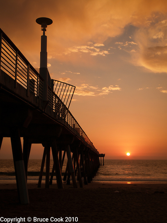 Sunset on the pier